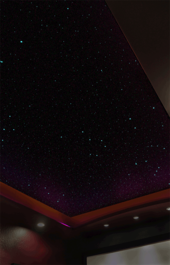 Night Sky Murals DIY stencil ceiling - with stars