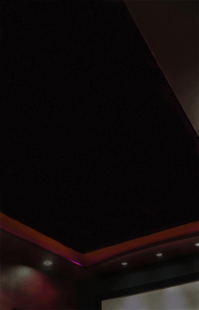 Night Sky Murals DIY stencil ceiling - no stars