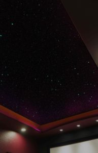 Theater ceiling with stars