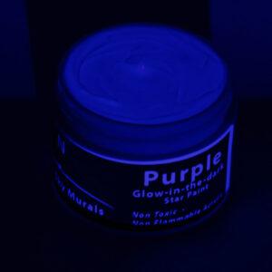 Glowing Purple paint under blacklight