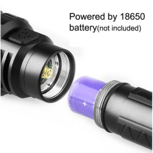 18650 Battery in flashlight