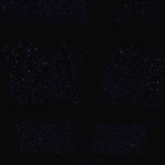 Night Sky Murals Stenciled ceiling in dark