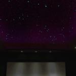 Night Sky Murals Stenciled theater ceiling in dark